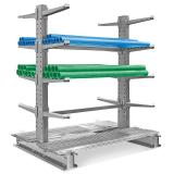 4 Tier Floor Standing Retail Display Bulk Merchandise Steel Wire Basket Shelf (PHY324)