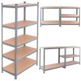 Heavy Display Supermarket/Warehouse Steel Metal Adjustable Rivet Rack Shelving