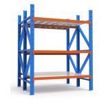 Supermarket Furniture Wood Grain Shelf Metal Dislay Rack Shelf